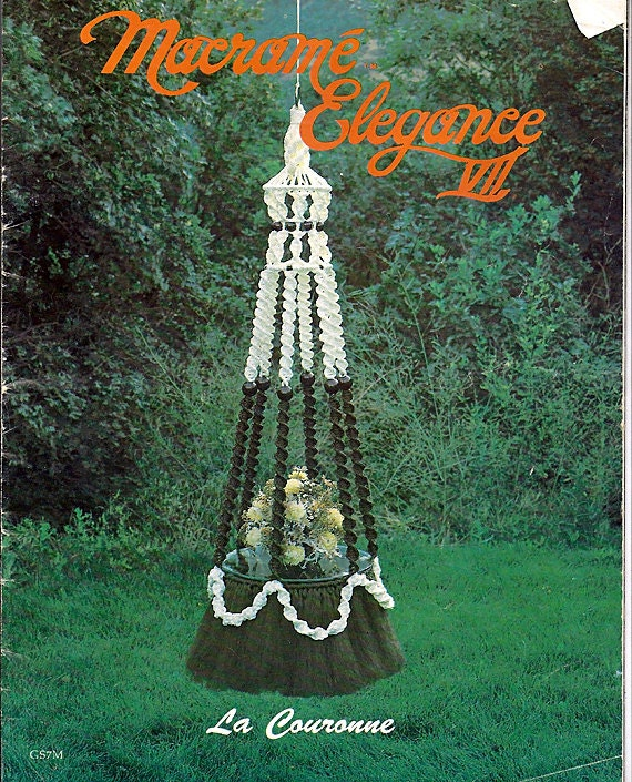 Macrame Book Cover Tutorial : Macrame elegance vii pattern book gs m