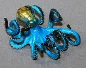 """AWESOME BRONZE OCTOPUS """"Oliver Octopus"""" Figurine Statue Sculpture Aquatic Art / Limited Edition / Signed & Numbered"""