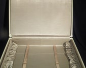Vintage 1930's Samsonite Gray Marble Pattern Suitcase Large