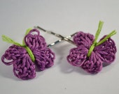 Purple Butterfly Bobby Pins