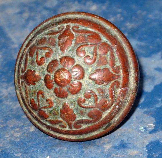 Antique Brass Doorknob Eastlake Victorian Arts and Crafts Doorknob