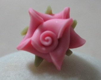 10 pcs 11 mm Polymer Clay Flower Beads FIMO Pendant Charm craft jewelry Necklaces Earrings Bracelet Accessories-deep pink