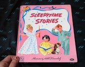 40s Vintage Illustrated Children Book - SLEEPY TIME STORIES -1944