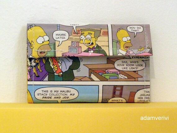 simpsons comics unisex wallet