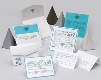 Wedding Invitations - Brooke collection