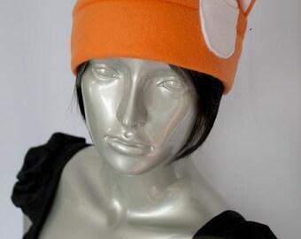 Orange Cat Fleece Hat