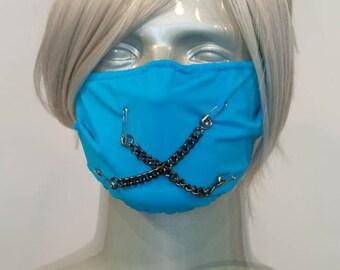 Light Blue Teal J-Rock Surgical Mask