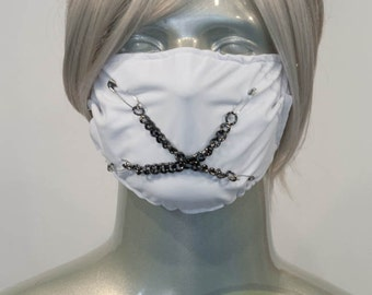 White J-Rock Surgical Mask
