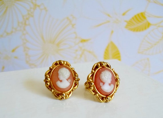 Cameo Post Earrings