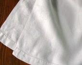 Vintage Linen Towels Pair Two Bath Tea Damask Windowpane