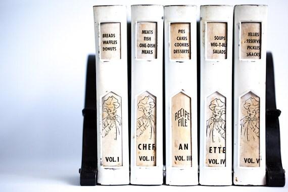 Chef An Ette Metal Recipe File Recipe Box