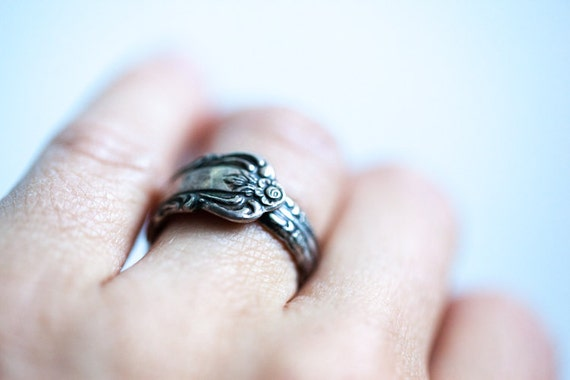 Victorian Silver Spoon Ring Roger 1881