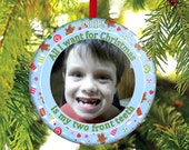 Lost Tooth Christmas Ornament - All I want for Christmas is my two front teeth!