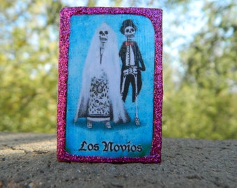 Loteria Day of the Dead Matchbox, Newlyweds and El Tenorio