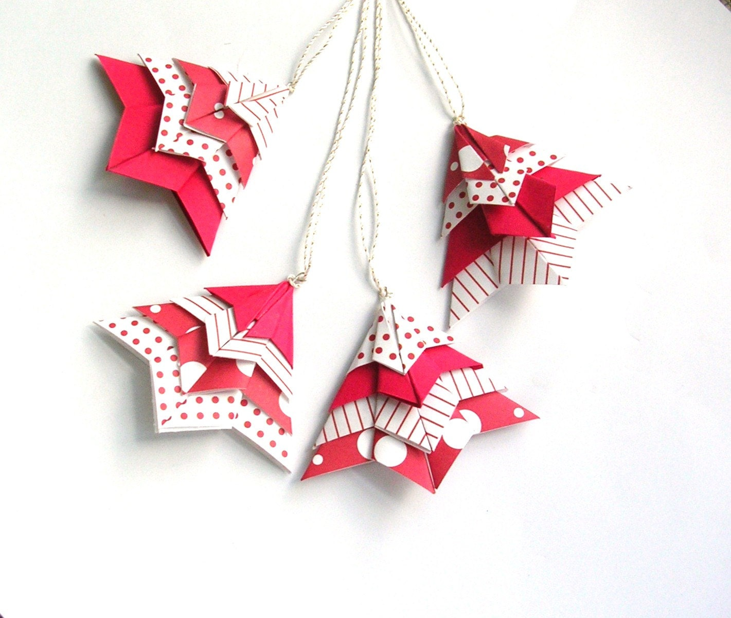 Origami Christmas Decorations: Origami Christmas Tree Package Toppers...Tree