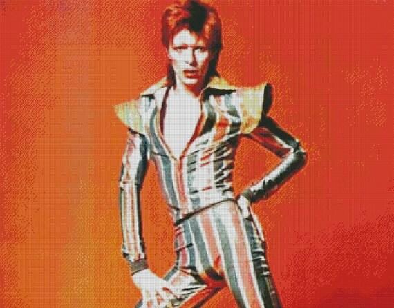 David Bowie cross stitch pattern 009