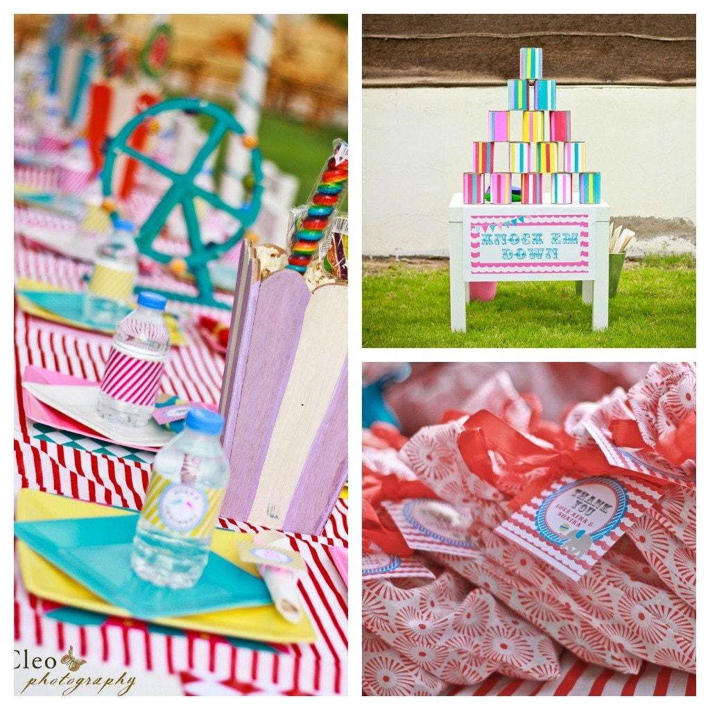 12 Fun Circus Carnival Party Games: Glam Girl Carnival Birthday Party Package Circus Birthday