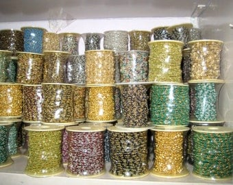 Gold Plated Gemstone Beaded Chain , Multi Colour Gemstone Faceted Roundelle Beads Cluster Bulk Chain Spools wholesale rosary beaded chains