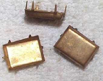 Vintage Square Brass Settings
