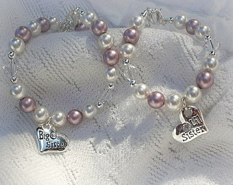 Sister Jewelry-Big Sister Gift-FREE SHIPPING-Big Sister Bracelet-Little Sister Bracelet-Sister Bracelet Set