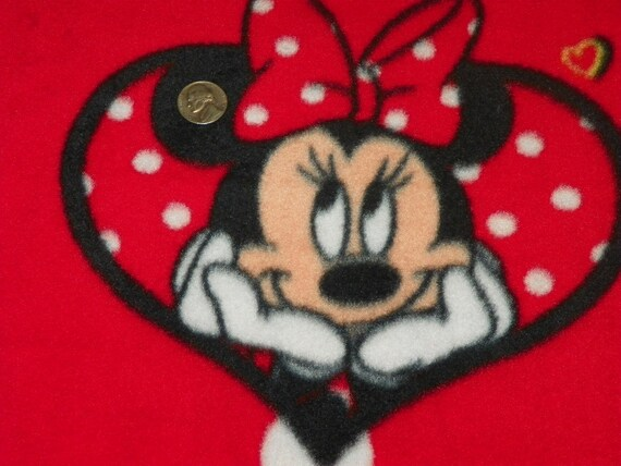 Minnie Mouse Fleece Fabric Sold By The Yard