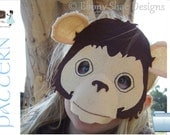 Monkey Mask PATTERN PDF. One size fits most.  Instant Download. - EbonyShae