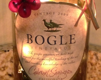 Lighted Wine Bottle Bogle Cab