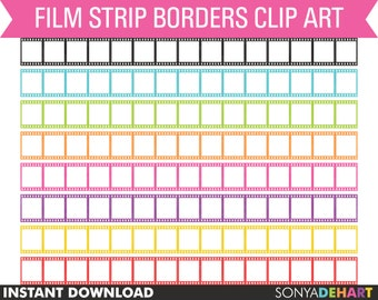 80% OFF Sale Clipart Film Strip Borders Digital Personal and Commercial Use