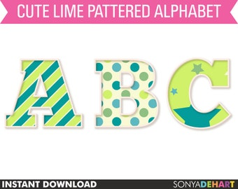 60% OFF SALE Alphabet Clipart, Clipart Letters, Digital Alphabet, Clipart Alphabet, Scrapbook Alphabet, Clipart, Clip Art, Digital Letters