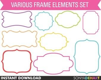 Clipart Frames, Clip Art Frames, Frame Clipart, Label Clipart, Clipart Labels, Clip Art,