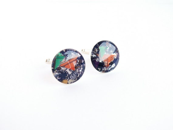 SALE Cyberpunk Cuff links with computer parts sb258 ready to ship