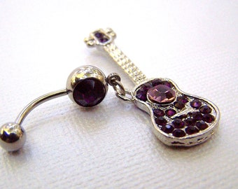 Guitar Jewelry Bellybutton Jewelry Navel Ring Belly Ring  Piercing Body Jewelry
