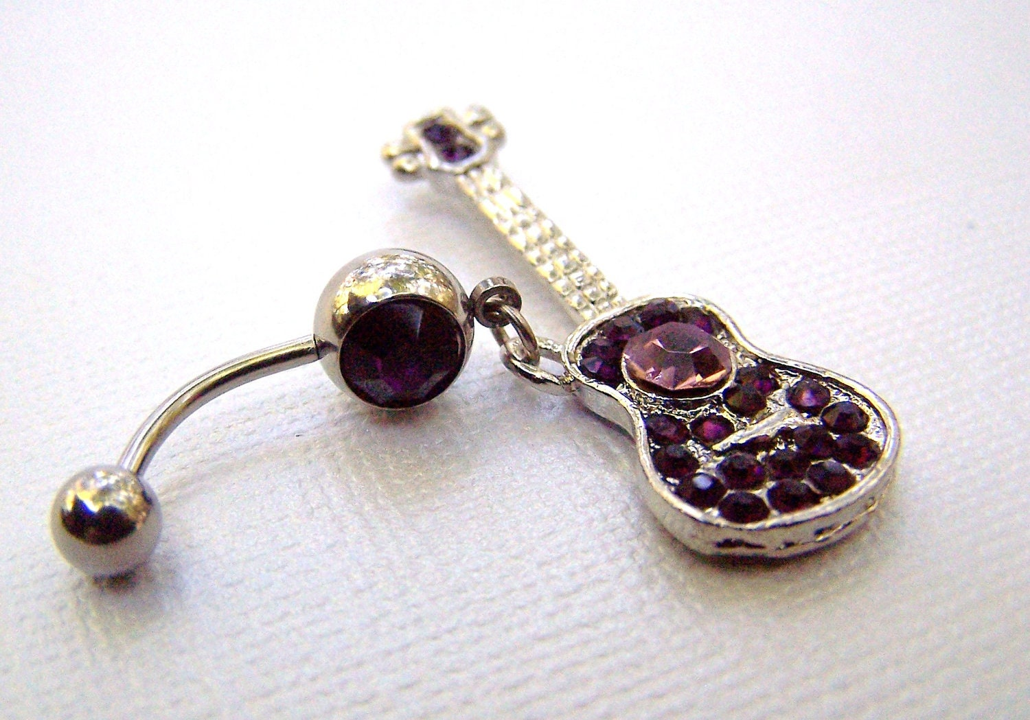 guitar jewelry bellybutton jewelry navel ring belly ring