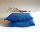 Blue pillow covers, 16x16, throw pillow, decorative pillow
