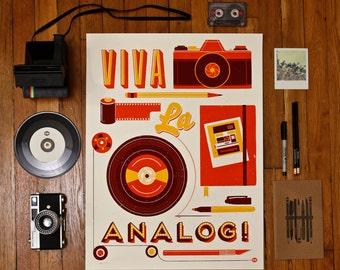 Viva La Analog Screen Print