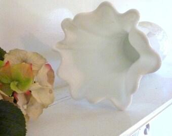 Milk Glass,  Westmoreland Milk Glass Vase,  Collectable Glass