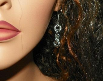 Small Mobius Earrings