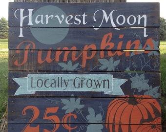 Hand Painted Vintage Pumpkin Repurposed Pallet