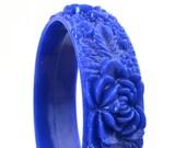 Vintage Bright Blue Flower Bracelet