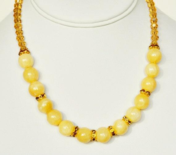 Items Similar To Yellow Necklace Handmade Beaded Jewelry