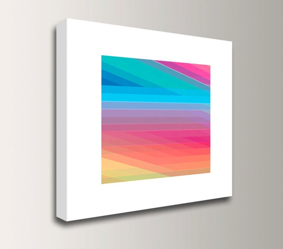"Colorful Art - Canvas Print - Modern Art Print - Rainbow Colors - ""Spectrum 2"""