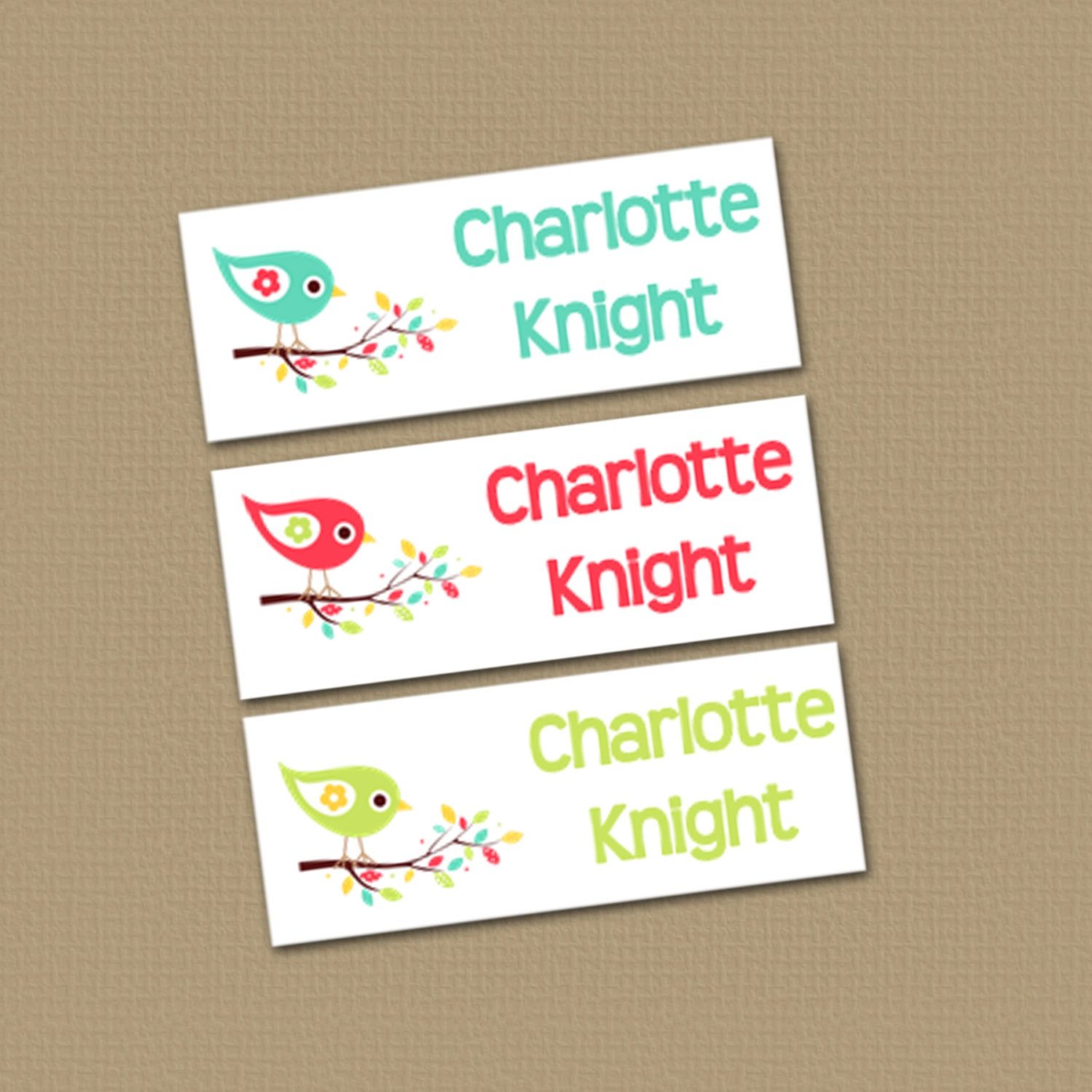Personalized Waterproof Label Stickers Girl By Theprintedparty