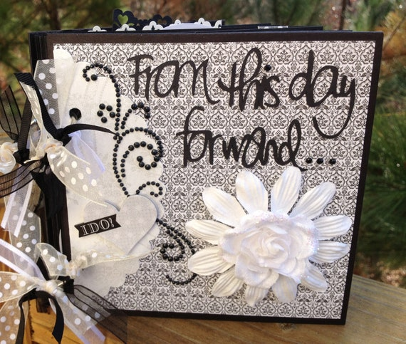 Wedding Scrapbook Kit: Wedding Scrapbook KIT Mini Album Pre-cut With Instructions