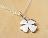 Silver 4 Leaf Clover Necklace - Sterling Silver