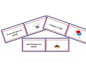 Basic Positive & Negative Sentences - French Loop Cards