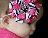 Personalized Minnie Mouse Zebra Headband