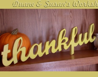 thankful sign thanksgiving home decor wooden sign rustic wooden sign thanksgiving decor