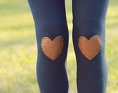 My Leather Heart Navy Leggings // size large