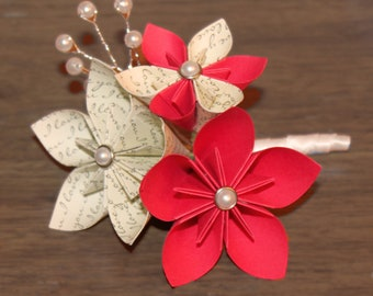 Paper Flower Boutonniere Origami