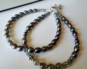 Labradorite and Pearl Fashion Bracelet